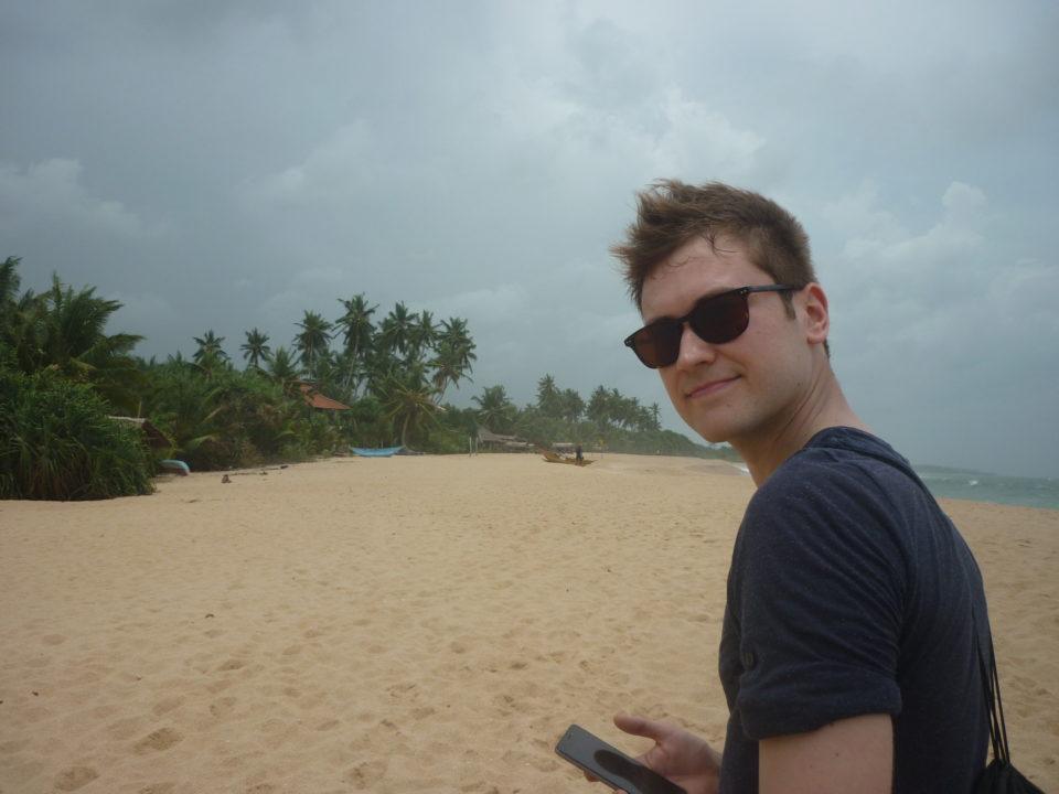 Bild für Über mich Seite mit Urban Meanderer am Strand in Tangalle, Sri Lanka